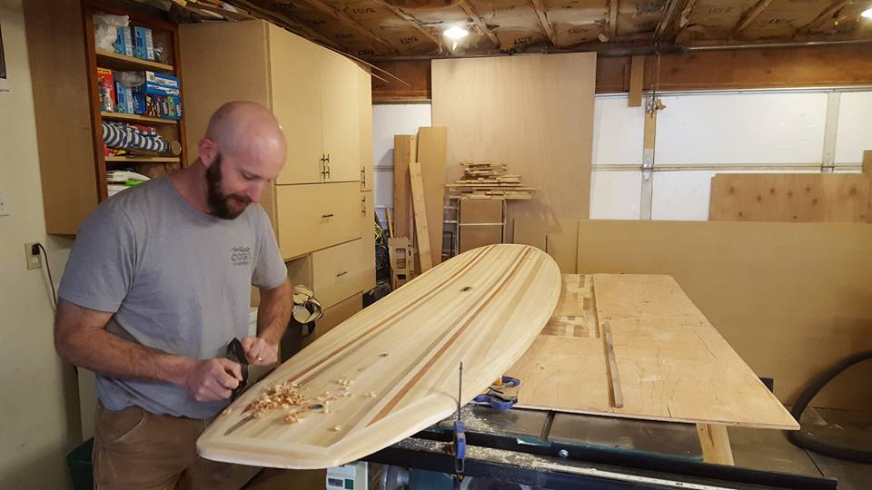 Josh Building Core Boards By Hand